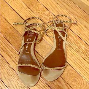 Jeffrey Campbell JC ankle wrap studded sandals